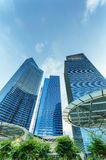 Skyscrapers in Marina Bay in Singapore. Stock Photography