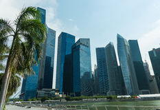 Buildings in Singapore skyline Royalty Free Stock Photos