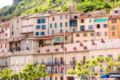 Buildings in Sisteron village Royalty Free Stock Photos
