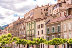 Buildings in Sisteron village Stock Photography