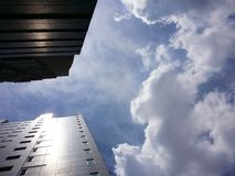 Buildings in the Sky Royalty Free Stock Photo