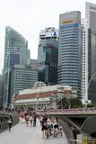 Buildings skyline in business district Marina Bay Stock Photography