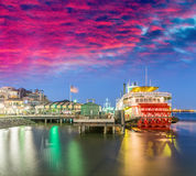 Buildings and skyline of New Orleans, Lousiana Royalty Free Stock Photo