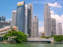 Buildings skyline in Singapore, Asia royalty free stock photo