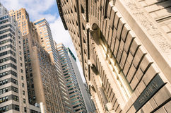 Buildings and skyscrapers in Broadway - New York City Manhattan Royalty Free Stock Image