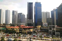 Buildings, skyscrapers and commercial centers inside the Bonifacio Global City. Stock Image
