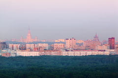 Buildings in small distrist in Moscow Stock Images
