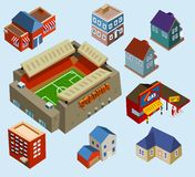 Buildings and Soccer Stadium Stock Image