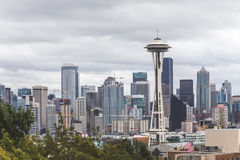 Buildings and Space Needle in Seattle Stock Image
