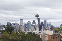 Buildings and Space Needle in Seattle, Washington Stock Photography