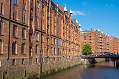 Buildings in the Speicherstadt Stock Photography