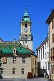 Buildings on the square, Bratislava royalty free stock photos