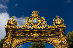 Buildings on the Stanislas place in Nancy the golden city. Stock Photos