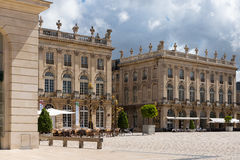 Buildings on the Stanislas place in Nancy the golden city. Royalty Free Stock Images