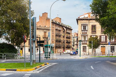 Buildings on the start of Calle Nueva in Pamplona, Spain Stock Image