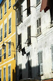 Buildings on a street in Ajaccio city, Corsica Stock Images