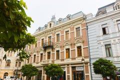 Buildings on  street of Tbilisi - Georgia Royalty Free Stock Photo