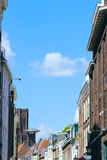 Buildings on the Street in Utrecht - Old City in Netherlands Royalty Free Stock Images