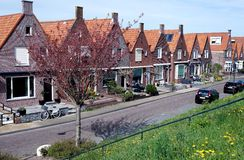 Buildings. And a street in Volendam Netherlands royalty free stock photo