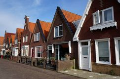 Buildings. On the street in Volendam Netherlands royalty free stock image