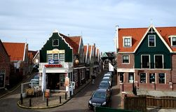 Buildings. On the street in Volendam Netherlands royalty free stock photo