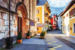 Buildings and streets. Beauty world. Hallstatt. Austria Royalty Free Stock Photo