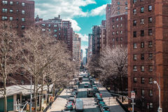 Buildings and streets near Midtown Manhattan, New York City Royalty Free Stock Photo