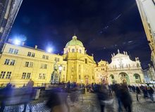 Buildings and Streets of Prague, Czech Republic.  Royalty Free Stock Images