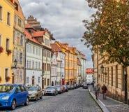 PRAGUE, CZECH REPUBLIC - SEPTEMBER 6, 2017. Buildings and Streets of Prague, Czech Republic. Buildings and Streets of Prague, Czech Republic Stock Photography
