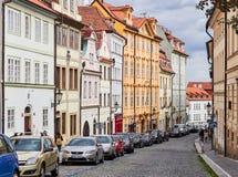 PRAGUE, CZECH REPUBLIC - SEPTEMBER 6, 2017. Buildings and Streets of Prague, Czech Republic. Buildings and Streets of Prague, Czech Republic Royalty Free Stock Photography
