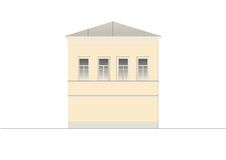 Buildings and structures of the early and mid twentieth century. Drawings of houses of classical architecture of the end of 18-19- Royalty Free Stock Image