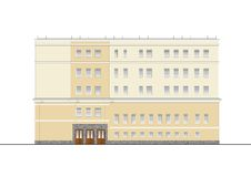 Buildings and structures of the early and mid twentieth century. Drawings of houses of classical architecture of the end of 18-19- Royalty Free Stock Photography