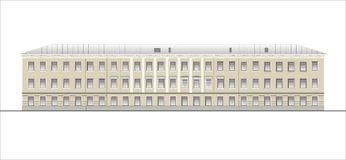 Buildings and structures of the early and mid twentieth century. Drawings of houses of classical architecture of the end of 18-19-20 century stock illustration