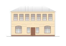 Buildings and structures of the early and mid twentieth century Royalty Free Stock Images