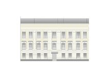 Buildings and structures of the early and mid twentieth century. Drawings of houses of classical architecture of the end of 18-19-20 century Royalty Free Stock Photography