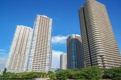 Buildings at Sumida River, Tokyo, Japan Royalty Free Stock Images