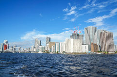 Buildings at Sumida River, Tokyo, Japan Stock Photos