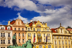 Buildings surrounding the Old Town Square in Prague Royalty Free Stock Images