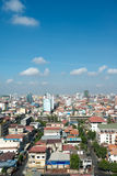 Buildings surrounding  Tuol Sleng genocide museum S-21 in Phno Royalty Free Stock Photo