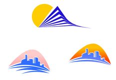 Buildings symbols Royalty Free Stock Photo