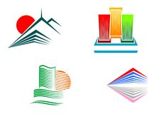 Buildings symbols royalty free stock images