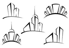 Buildings symbols Stock Photography