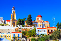 Buildings at Symi Greece Stock Photo