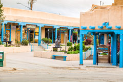 Buildings in Taos, which is the last stop before entering Taos P Stock Image