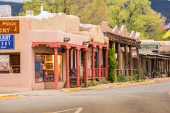 Buildings in Taos, which is the last stop before entering Taos P Royalty Free Stock Photography