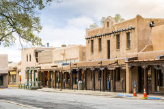 Buildings in Taos, which is the last stop before entering Taos P Stock Images
