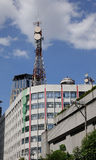 Buildings with telecom tower in Manila, Philippines Stock Photo
