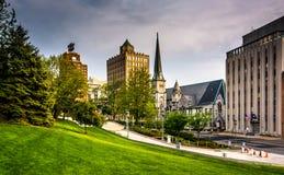 Buildings on Third Street in Harrisburg, Pennsylvania Royalty Free Stock Photo
