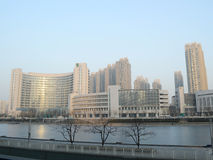 Buildings at Tianjin city. Buildings at  Tianjin China photoed on january 18th 2014 Stock Images