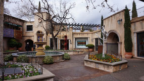 The buildings of Tlaquepaque in Sedona. Royalty Free Stock Image